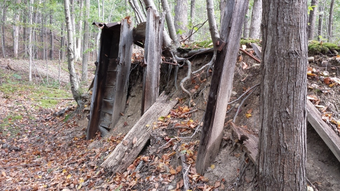 Remains of a bomb-proof shelter at the DuPont Powder Mill site.